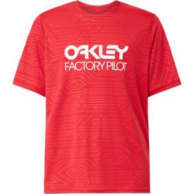 Oakley Pipeline Trail SS Tee Men, red line